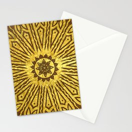 ozorahmi copper mandala Stationery Cards