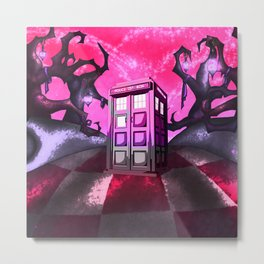 tardis and wonderland Metal Print