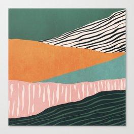 Modern irregular Stripes 02 Canvas Print