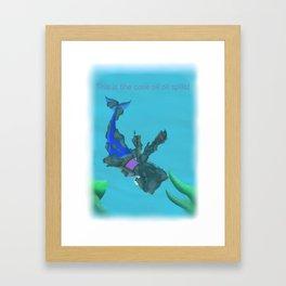 Don't let oil spill happen! Framed Art Print