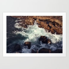 swirling current Art Print