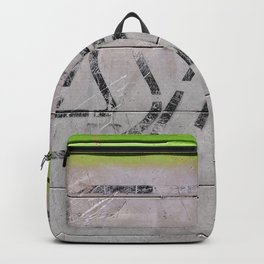 Abstract Brushed Metal Texture - With Green Paint Backpack