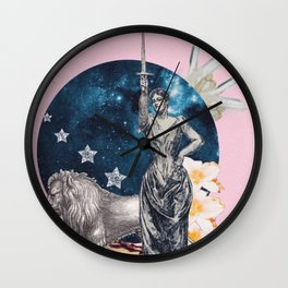 Strength Tarot Card Wall Clock
