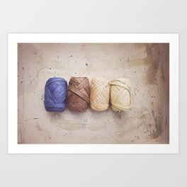 Get your Raffia in a Row, Plain and simple Art Print