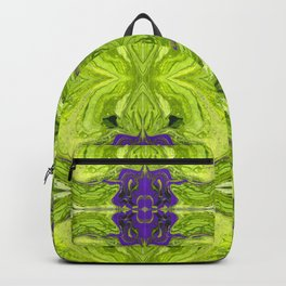 Acrylic Pour Pattern (Green/Purple) Backpack
