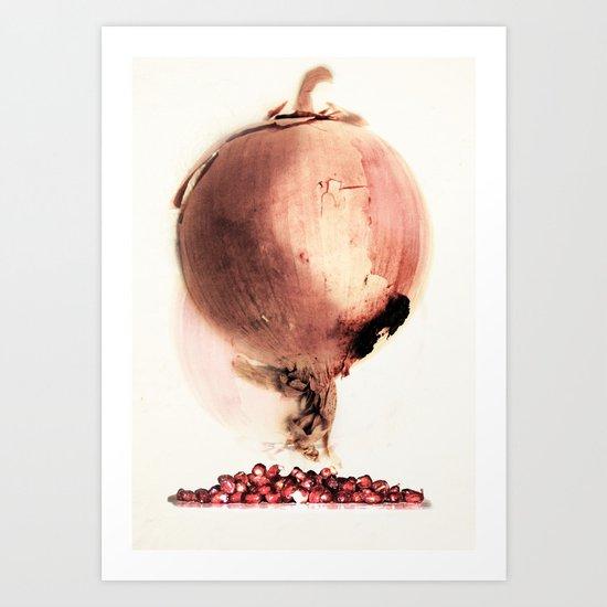 Onion story Art Print