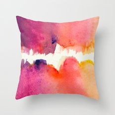 Abstract Watercolor The Gap Throw Pillow