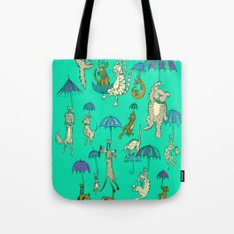 Raining Cats and Dogs Tote Bag