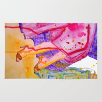 amelie Area & Throw Rugs featuring Amelie by Laurie Art Gallery