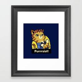 Purrsist! Framed Art Print