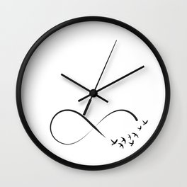 Freedom infinity symbol with swallows Wall Clock
