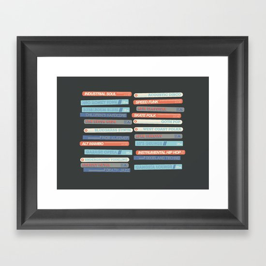 Music Snob Framed Art Print