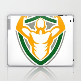 Strongman Flexing Muscles Crest Icon Laptop & iPad Skin