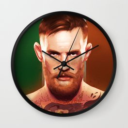 The Notorious Conor McGregor by Big Foot Studios Wall Clock