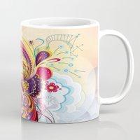 phoenix Mugs featuring Phoenix by Nick La