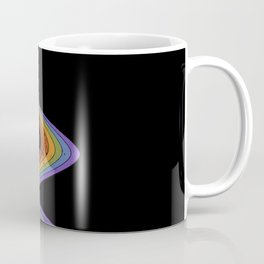 Coffee Cup Rainbow Pour // Abstract Barista Wall Hanging Artwork Graphic Design Coffee Mug