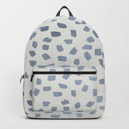 Simply Ink Splotch Indigo Blue on Lunar Gray Backpack