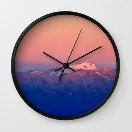 Hochalmspitz in Morningsun Wall Clock