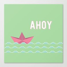 ahoi green Canvas Print