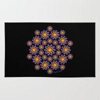 sun and moon Area & Throw Rugs featuring Sun, Moon and Stars by artsytoocreations