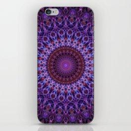 Mandala in blue,pink and purple tones iPhone Skin