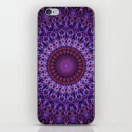 Mandala in blue,pink and purple tones iPhone Skin