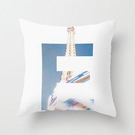 E for Eiffel Throw Pillow