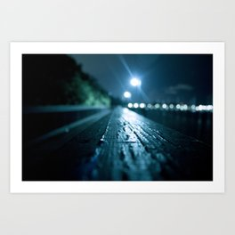 Grove Lights Art Print