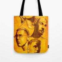u2 Tote Bags featuring U2 - Série Ouro by Renato Cunha