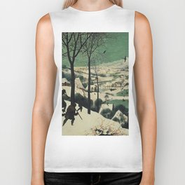 HUNTERS IN THE SNOW - BRUEGEL Biker Tank