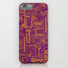 tribal pattern in purple and yellow Slim Case iPhone 6s