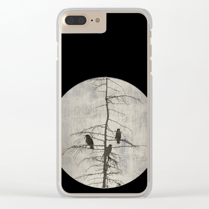 A Full Moon Night Clear iPhone Case