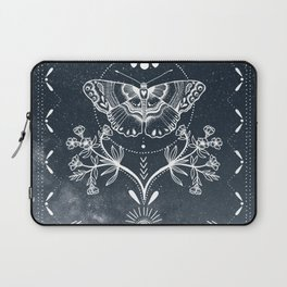 Magical Moth White Laptop Sleeve
