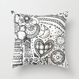 doodles by beccasartsycorner Throw Pillow