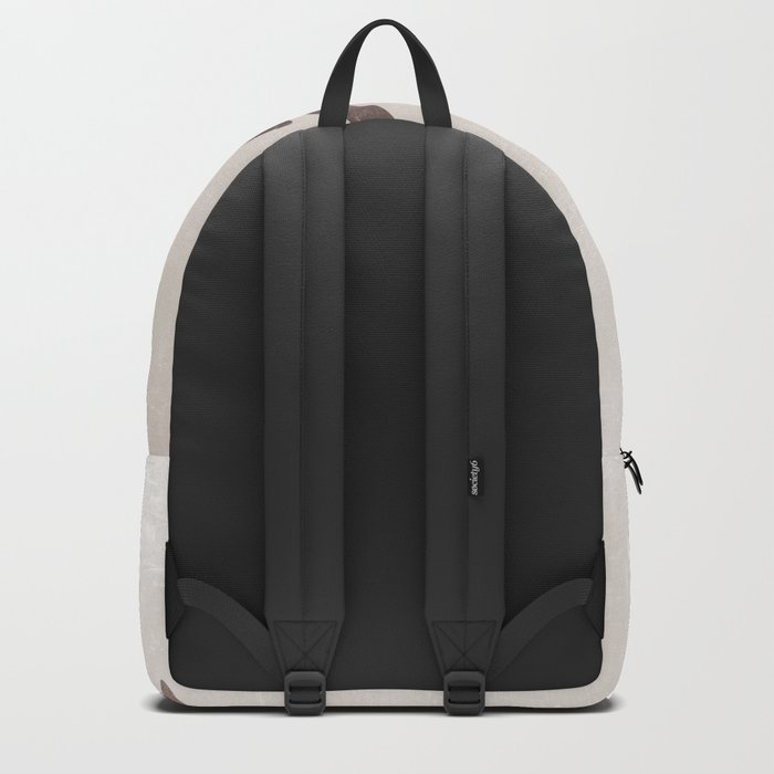 Deer stag silhouette grunge design Backpack