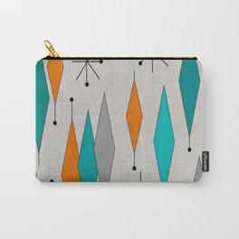 Mid-Century Modern Diamond Pattern Carry-All Pouch