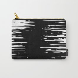 Splash White on Black Carry-All Pouch
