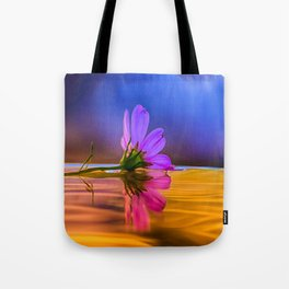 Flower under Gorgeous Sunset Tote Bag