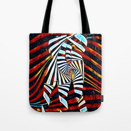 6805-LB Two Become as One Love Energy Abstraction Tote Bag