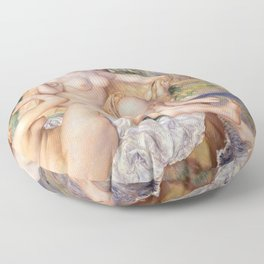 Les Grandes Baigneuses (The Large Bathers) by Auguste Renoir Floor Pillow