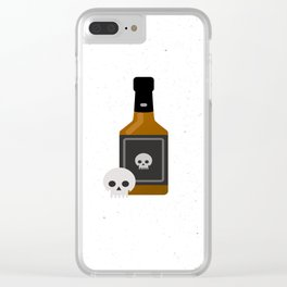 Whisky Death Clear iPhone Case
