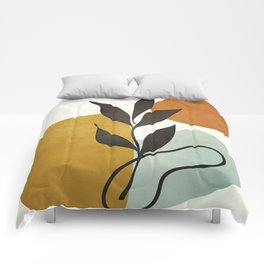 Soft Abstract Small Leaf Comforters