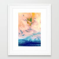 outer space Framed Art Prints featuring OUTER SPACE by Uta Krauss