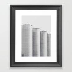 Architecture - Silos - Fine Art Photo, b&w, print, high quality photography, hasselblad shot, Framed Art Print