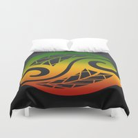 reggae Duvet Covers featuring Reggae Poloneisan by Lonica Photography & Poly Designs