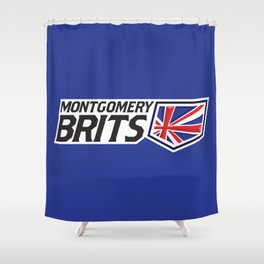 Montgomery Brits Full Logo Shower Curtain