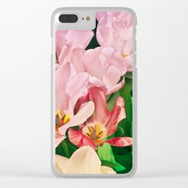 Blooming Tulips Clear iPhone Case