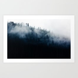Foggy Mountain Forest (Color) Art Print