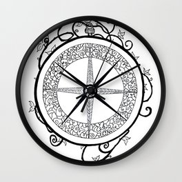 Home is where the heart is Compass Wall Clock