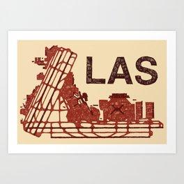 LAS Airport LAS Art Print